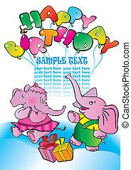 słonie, gifts.