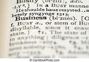 słownik, definicja, -, handlowy