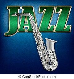 słowo, abstrakcyjny, jazz, saksofon, tło, grunge, muzyka