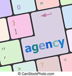 słowo, ad, pośrednictwo, komputer, reklama, klawiatura, concept: