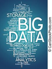"słowo, ""big, chmura, data"""