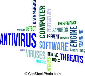 słowo, -, chmura, antivirus