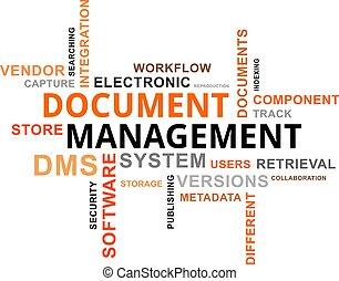 słowo, chmura, -, dokument, kierownictwo