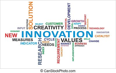 słowo, chmura, -, innowacja
