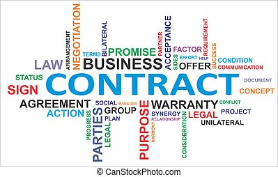 słowo, -, chmura, kontrakt