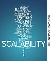słowo, chmura, scalability