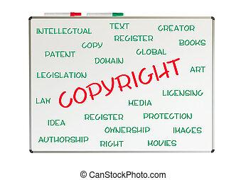 słowo, copyright, chmura