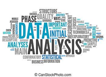 słowo, dane, chmura, analiza