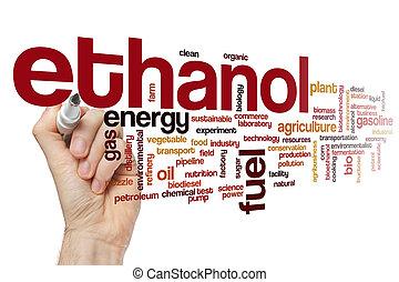 słowo, etanol, chmura