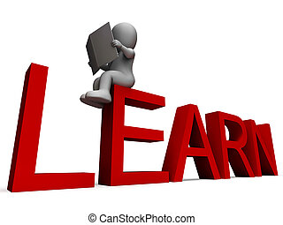 słowo, etiuda, uczyć się, wykształcenie, albo, widać
