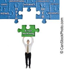 słowo, handel, zagadka, e-poczta, siła robocza, człowiek