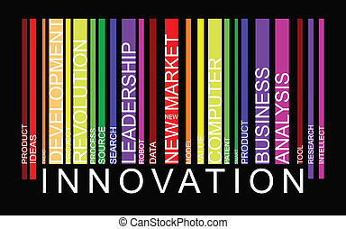 słowo, innowacja, pojęcie, barcode