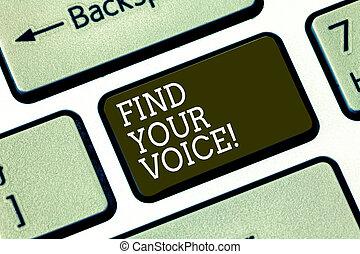 słowo, pisanie, tekst, znaleźć, twój, voice., handlowe pojęcie, dla, istota, zdolny, do, ekspres, siebie, jak, niejaki, pisarz, żeby rozmawiać, klawiatura, klucz, intention, żeby stworzyć, komputerowa wiadomość, groźny, keypad, idea.