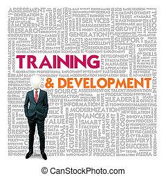 słowo, pojęcie, trening, chmura, handlowy rozwój, finanse