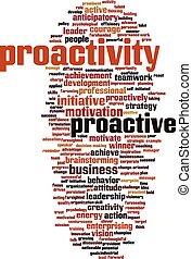 słowo, proactivity, chmura