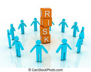 słowo, ryzyko, pokaz, handlowy, lokata, albo, finanse,...