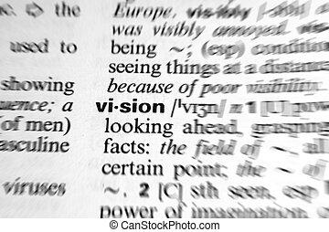 słowo, słownik, -, skutek, prosperować, widzenie