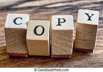 słowo, tłoczyć, woden, blocks., tło., pisemny, drewno, kopia