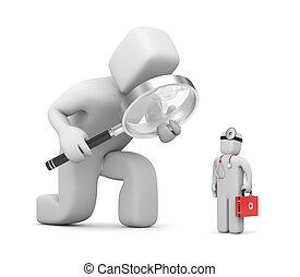 służby, medyczny, badanie