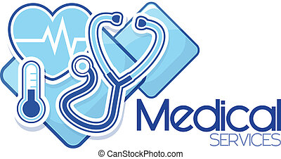 służby, medyczny, projektować, znak
