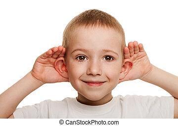 słuchający, dziecko