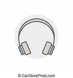 słuchawka, barwny, ikona