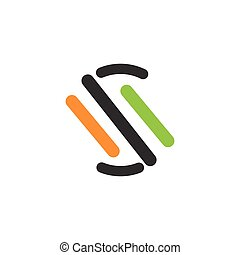 S abstract line logo vector