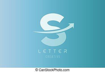 S alphabet letter logo in blue white color for icon design template