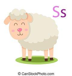 S alphabet vector animal
