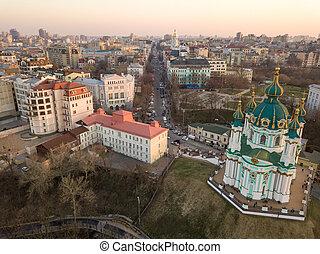s., andrew's, iglesia, de, kiev
