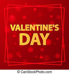 s, arrière-plan., cœurs, bannière, day., rouges, concept, valentin