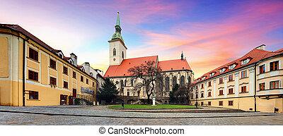 s., -, bratislava, eslovaquia, catedral, martin