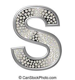 s, diamante, carattere