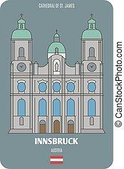 s., europeo, catedral, arquitectónico, ciudades, austria., ...