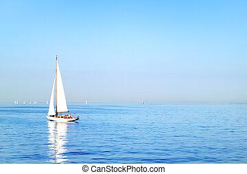 s., finlandia, sailboat., petersburg, golfo