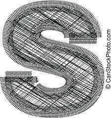 s, fonte, ilustração, letra
