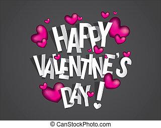 s, heureux, jour, valentin