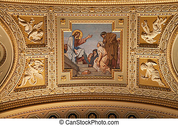 s., interior, basílica, stephen