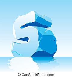 s, lód, litera