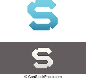 S Letter Alphabet Abstract vector text logo