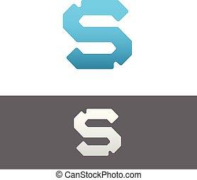S Letter Alphabet Abstract vector text logo