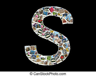 """S"" letter- collage of travel photo"