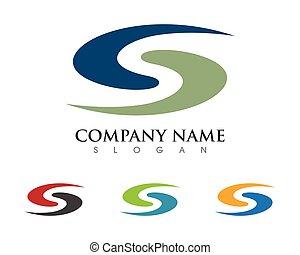 S letter logo icon design template