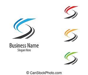 S letter logo vector icon