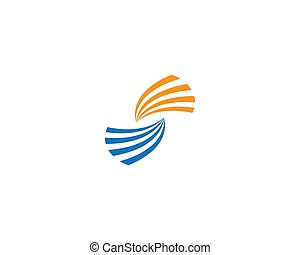 S letter logo vector icon illustration