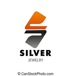 S letter vector icon for silver jewelry company