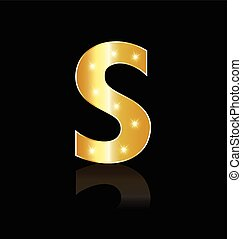 S letter with glowing lights logo