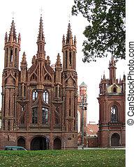 s., lithuania., anne, iglesia, bernardine, monasterio, ...