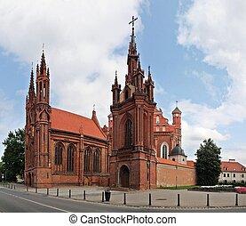 s., lithuania., vilnius, anna's, iglesia