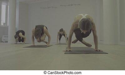 S-log. Yoga class. Reclining angle pose - S-log. Yoga class....